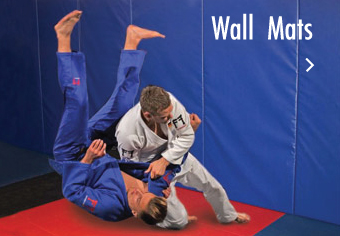 Wall mats and wall padding for martial arts training