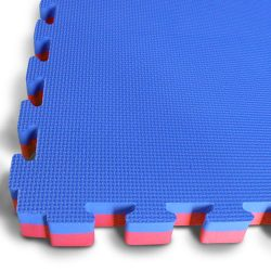Interlocking Jigsaw Mat - Blue / Red