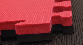 Black & Red Interlocking Jigsaw Mats