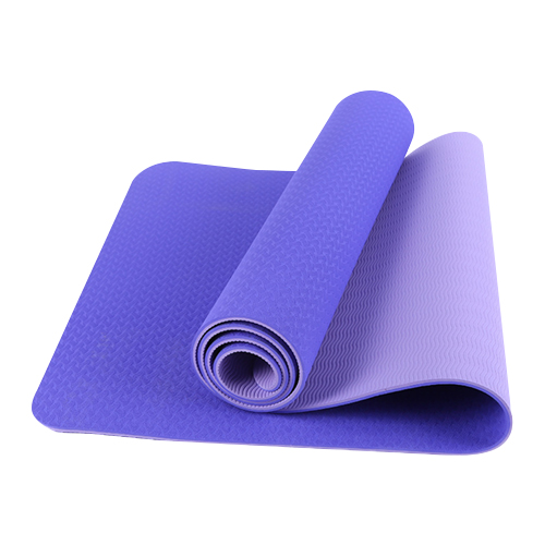 purple TPE yoga mat