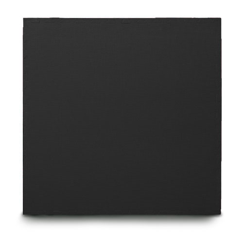 black EVA interlocking jigsaw mats with edging